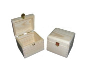 Plain Wood- New Wooden Tea Bag Box/ Chest 1 Compartments Decoupage Craft