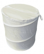 Heavy Duty Luxury Polyester Pop Up Laundry Basket, Cream, 100% Polyester