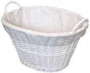 Woodluv White Willow Laundary Basket