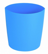 Spirella Lemon Opaque Waste Bin Polypropylen Blue Height 25 cm x Width 24 cm