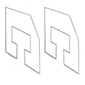 Wenko 2343100 0.5 x 30 x 49.5 cm 2-Piece Maxi Chrome Tray Divider
