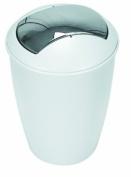 Spirella Atlanta Waste Bin HIPS White Chrome Height 30 cm x Width 20 cm