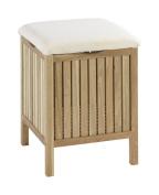 Wenko 18614100 Norway Walnut Wood Bath and Living Stool, 39 x 52 x 39 cm