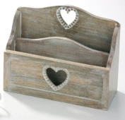 Country Style Wooden Beaded Heart Letter Rack