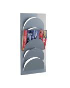Zeller 10460 Magazine Rack for Wall Fixation 29x62 cm Metal