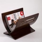 DESIGN NEWSPAPER & MAGAZINE RACK HOLDER basket white or dark brown wood from XTRADEFACTORY retro-brown