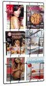 Puhlmann 6 Compartment Magazine Wallrack, Black