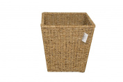 Woodluv Natural Seagrass Waste Paper Bin Square Basket Storage