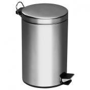 12Ltr Pedal Bin Mirror Polished Stainless Steel Inner Plastic Bucket