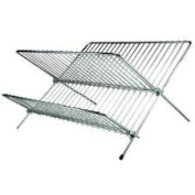 Chrome Plated Folding Dish Drainer By Impressions