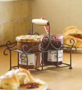 Two Jam Jar Holder Caddy Country Style 18cm