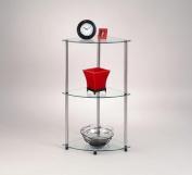 Convenience Concepts Inc. 157006 Classic Glass 3 Tier Corner Shelf