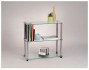 Convenience Concepts Inc. 157002 Classic Glass-3 Shelf Glass Bookcase