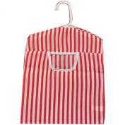 British Seaside Stripe Design Peg Bag - Red