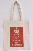 Keep Calm And Carry On Shopping Bag For Life - Approx 41cm x 38cm