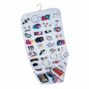 Hanging Jewellery Storage Organiser - 2 Sided with 80 Clear Pockets