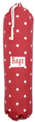 Large Red Polka Dot Plastic Bag Holder