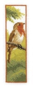 Counted Cross Stitch Kit - Bookmark Robin