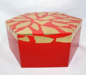 Farang Red wooden box with real gold leaf