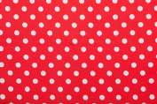 Sewing Basket Red Polka Dots (M) by Sewing-Online