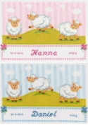 Vervaco PN-0145004 | Sheep Birth Record Counted Cross Stitch Kit