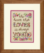 Young At Heart Mini Embroidery Kit-13cm x 18cm Stitched In Thread