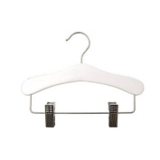 Childrens White Hanger with Adjustable Clips