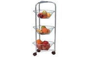 Chrome 3 Tier Vegetable Trolley