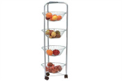 4 Tier  Chrome Vegetable Trolley