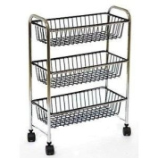 Harmony 3 Tier Mobile Trolley - Chrome and Black