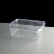 Cristal 500ml Clear Hinged Lid Salad Container