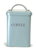 Squre Canister Shutter Blue, Coffee
