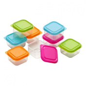 Couvercle Set of 8 Mini Storage Containers Made of Plastic Material With . Lids
