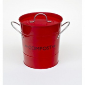 Victor Compost Bucket with Liner, Red
