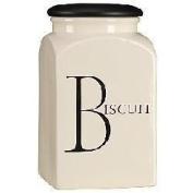 Fairmont Script Biscuit Storage Jar