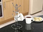 SupaHome 6 Cup Mug Tree Chrome Plated