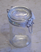 Classic Glass Preserving Jar 400ml with hinged lid - Jams, Preserves, Pickling.