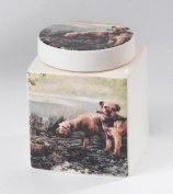 Border Terrier Collection A22073 Muddy Waters Canister