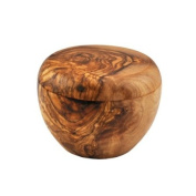 Olive Wood Sugar Pot / Salt Keeper