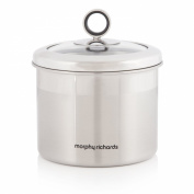 Morphy Richards Accents Small Stainless Steel Storage Canister with Glass Lid