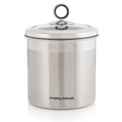 Large Stainless Steel Storage Canister with Glass Lid