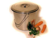 STAINLESS STEEL BUCKET 12 LITRES WITH LID - Fast Dispatch