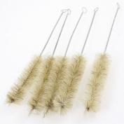 5Pcs 22cm Long Twist Metal Handle Nylon Bristles Test Tube Bottle Wash Brush