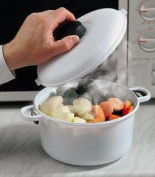 Microwave Pressure Cooker - Microwaveable Casserole Dish with Locking Lid & Pressure Release Vent