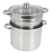 Crealys 504626 Pasta Cooker with Glass Lid 8 L Diameter 24 cm