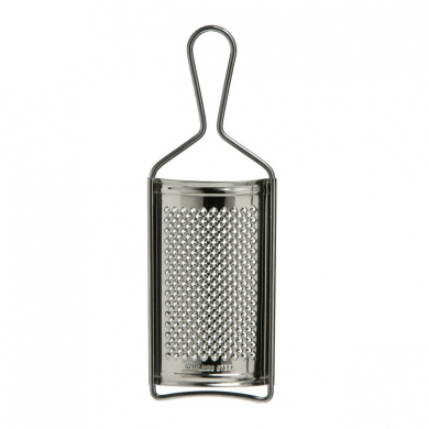 Fine Grater Made Of Curved Stainless Steel With Hand Held