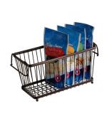 InterDesign York Lyra Kitchen Pantry Cabinet Organiser Basket, Bronze