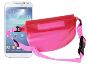 """DURAGADGET """"Travel"""" Pink Waterproof All-Purpose Dry Swimming Case / Pouch With Adjustable Waist Strap For The New for Samsung Galaxy S4 / S IV / S 4 i9500 16GB Smartphone"""
