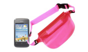 """DURAGADGET """"Travel"""" Range Hot Pink Waterproof Dry Bag / Pouch With Adjustable Waist Strap For Huawei Ascend G330, Ascend G510, Huawei G7005, Ascend Y 100 & ZTE Grand X"""