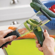 Great Ideas No Mess Veggie Peeler - Peel Vegetables Mess Free - Collects Peelings Inside For Easy Disposal - Ideal For Potatoes, Apples, Carrots And Other Fruit And Veg